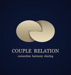 Abstract couple relation symbol vector