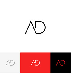 ad monogram logo from letters a and d vector image