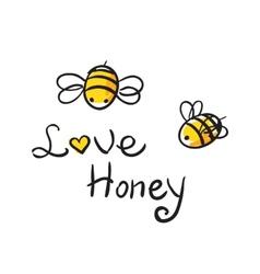 Bee Love honey vector image