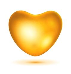 Big gold heart vector image vector image