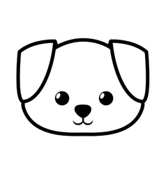face dog adorable pedigree outline vector image vector image