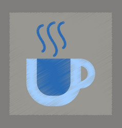 flat shading style icon cup coffee flavor vector image