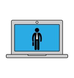 Online work icon vector image
