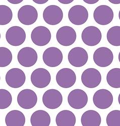 Polka dot background seamless pattern Purple dot vector image vector image