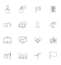 Elections icons set outline vector image vector image