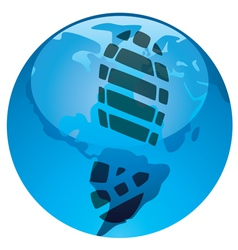 global footprint on earths ecology vector image vector image
