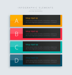 infographic presentation template banner in dark vector image vector image
