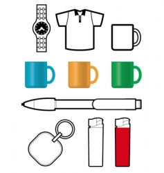 promotional gift templates vector image