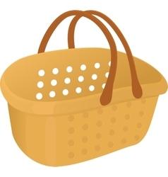 Shopping plastik empty yellow basket icon vector image vector image