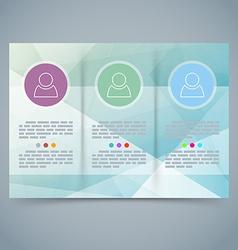 Tri-fold modern brochure booklet template vector image vector image