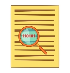 Virus searching icon cartoon style vector image