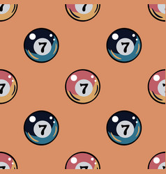 billiards ball seamless pattern vector image vector image