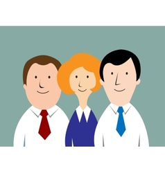 Cartoon business team vector image vector image