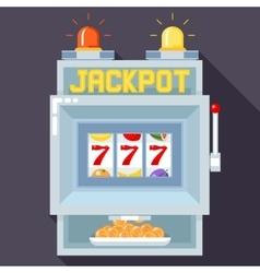 Casino slot gambling machine UI game vector image