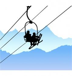 ski lift vector image vector image