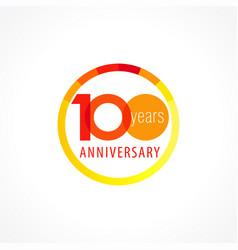 100 anniversary circle logo vector