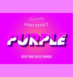 3d purple editable text effect vector