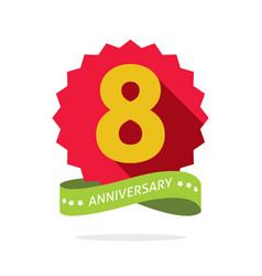 8 years anniversary celebrating logo icon vector