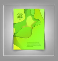 a4 abstract color 3d paper art vector image