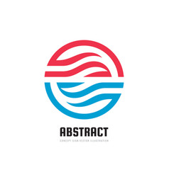abstract circle with design elements - concept vector image