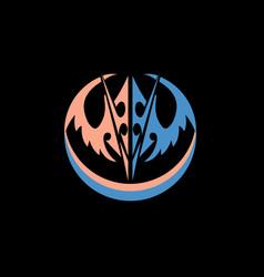 abstract mask symbol vector image