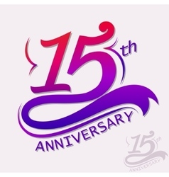 Anniversary design template celebration sign vector