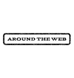 around the web watermark stamp vector image