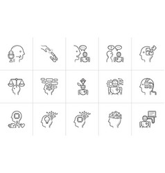 artificial intelligence hand drawn outline doodle vector image