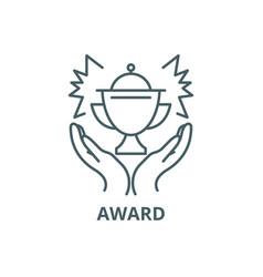 award line icon award outline sign vector image