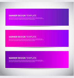 banners or headers with trendy bright pink and vector image