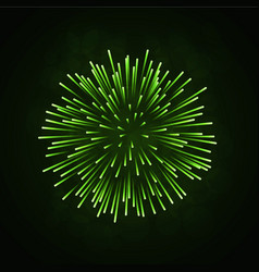 Beautiful green firework bright firework isolated vector