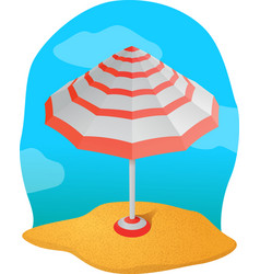 beautiful striped parasol vector image