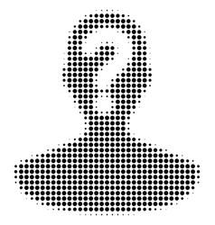 Black dot unknown person icon vector
