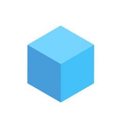 blue cuboid isolated geometric figure pattern icon vector image