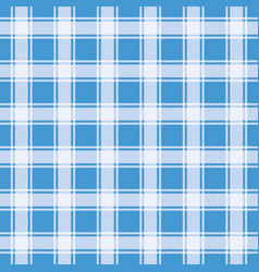 blue gingham pattern geometric background vector image