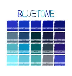 Bluetone Color Tone vector