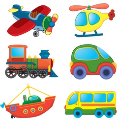Cartoon transport toys vector