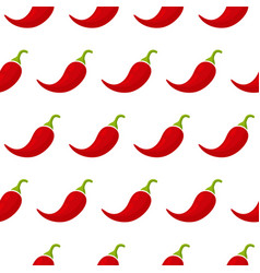 chili or cayenne pepper vegetable seamless pattern vector image