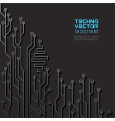 Circuit Black Background vector image