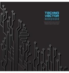 Circuit Black Background vector