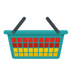 Clothes bucket icon flat style vector