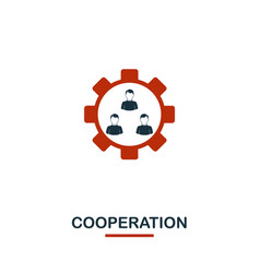 cooperation icon premium style design from vector image