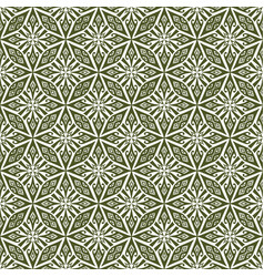 Dark olive green seamless damask pattern vector