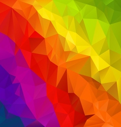 diagonal rainbow spectrum polygon triangular vector image