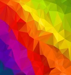 Diagonal rainbow spectrum polygon triangular vector