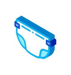 Diaper for child isometric icon vector