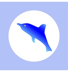 Dolphin in circle vector