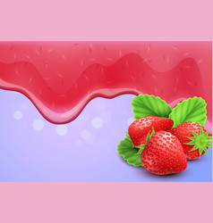dripping melting jam background vector image