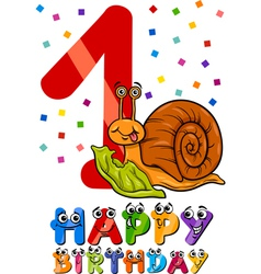 first birthday cartoon design vector image