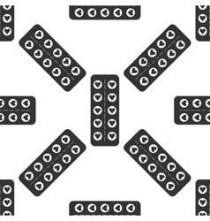 Flat design love pills Pills in the shape of a vector